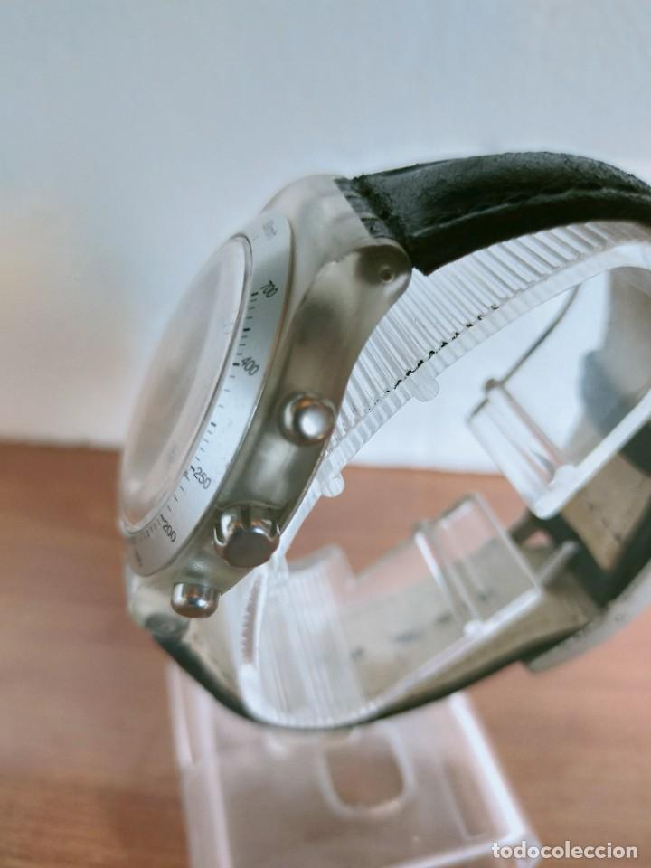 Relojes - Swatch: Reloj caballero SWATCH Irony crono de cuarzo Suizo correa negra, funcionando para su uso diario. - Foto 9 - 213656232