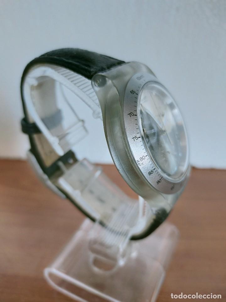 Relojes - Swatch: Reloj caballero SWATCH Irony crono de cuarzo Suizo correa negra, funcionando para su uso diario. - Foto 10 - 213656232