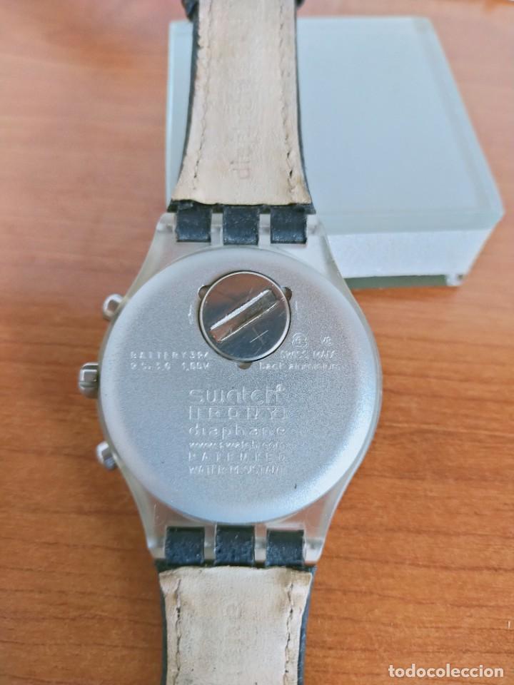 Relojes - Swatch: Reloj caballero SWATCH Irony crono de cuarzo Suizo correa negra, funcionando para su uso diario. - Foto 11 - 213656232