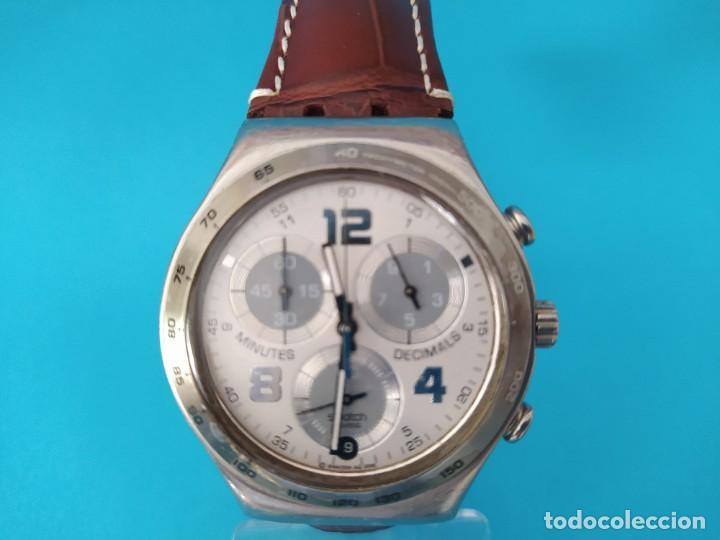 SWATCH CHRONOGRAPH IRONY VINTAGE CAJA EN UNA SOLA PIEZA EN ALUMINIO GRANDE (Relojes - Relojes Actuales - Swatch)