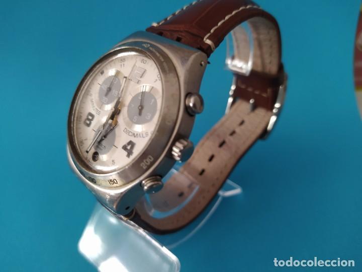 Relojes - Swatch: SWATCH CHRONOGRAPH IRONY VINTAGE CAJA EN UNA SOLA PIEZA EN ALUMINIO GRANDE - Foto 2 - 217209777