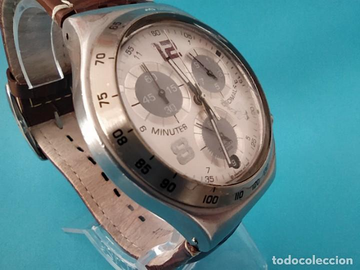 Relojes - Swatch: SWATCH CHRONOGRAPH IRONY VINTAGE CAJA EN UNA SOLA PIEZA EN ALUMINIO GRANDE - Foto 8 - 217209777