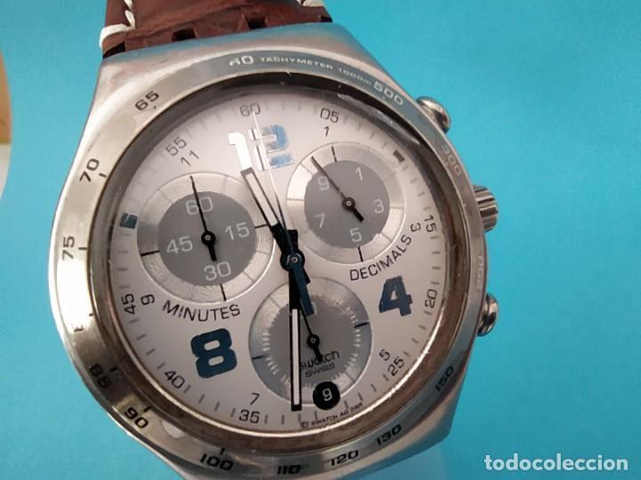 Relojes - Swatch: SWATCH CHRONOGRAPH IRONY VINTAGE CAJA EN UNA SOLA PIEZA EN ALUMINIO GRANDE - Foto 9 - 217209777