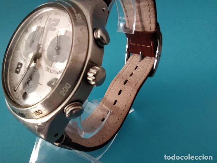 Relojes - Swatch: SWATCH CHRONOGRAPH IRONY VINTAGE CAJA EN UNA SOLA PIEZA EN ALUMINIO GRANDE - Foto 10 - 217209777