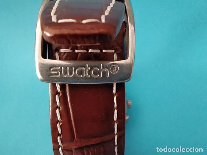 Relojes - Swatch: SWATCH CHRONOGRAPH IRONY VINTAGE CAJA EN UNA SOLA PIEZA EN ALUMINIO GRANDE - Foto 11 - 217209777