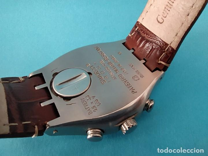 Relojes - Swatch: SWATCH CHRONOGRAPH IRONY VINTAGE CAJA EN UNA SOLA PIEZA EN ALUMINIO GRANDE - Foto 13 - 217209777