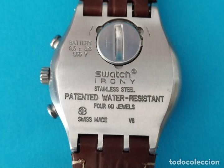 Relojes - Swatch: SWATCH CHRONOGRAPH IRONY VINTAGE CAJA EN UNA SOLA PIEZA EN ALUMINIO GRANDE - Foto 14 - 217209777