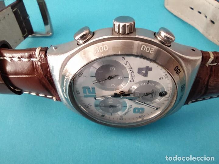 Relojes - Swatch: SWATCH CHRONOGRAPH IRONY VINTAGE CAJA EN UNA SOLA PIEZA EN ALUMINIO GRANDE - Foto 18 - 217209777