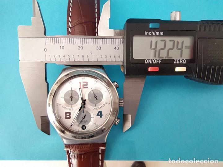 Relojes - Swatch: SWATCH CHRONOGRAPH IRONY VINTAGE CAJA EN UNA SOLA PIEZA EN ALUMINIO GRANDE - Foto 19 - 217209777