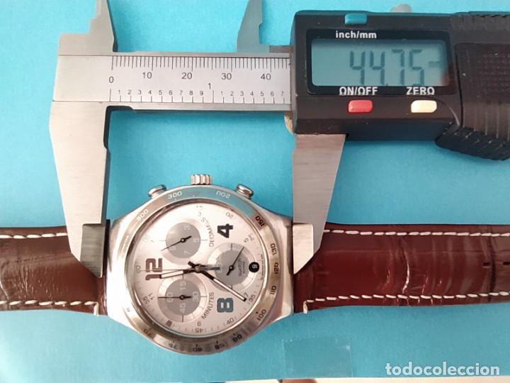 Relojes - Swatch: SWATCH CHRONOGRAPH IRONY VINTAGE CAJA EN UNA SOLA PIEZA EN ALUMINIO GRANDE - Foto 20 - 217209777