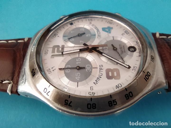 Relojes - Swatch: SWATCH CHRONOGRAPH IRONY VINTAGE CAJA EN UNA SOLA PIEZA EN ALUMINIO GRANDE - Foto 21 - 217209777