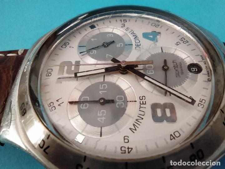 Relojes - Swatch: SWATCH CHRONOGRAPH IRONY VINTAGE CAJA EN UNA SOLA PIEZA EN ALUMINIO GRANDE - Foto 22 - 217209777