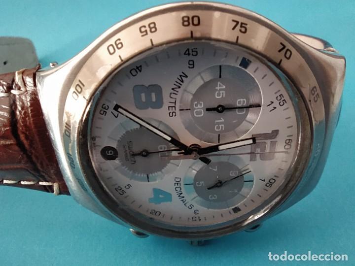 Relojes - Swatch: SWATCH CHRONOGRAPH IRONY VINTAGE CAJA EN UNA SOLA PIEZA EN ALUMINIO GRANDE - Foto 23 - 217209777