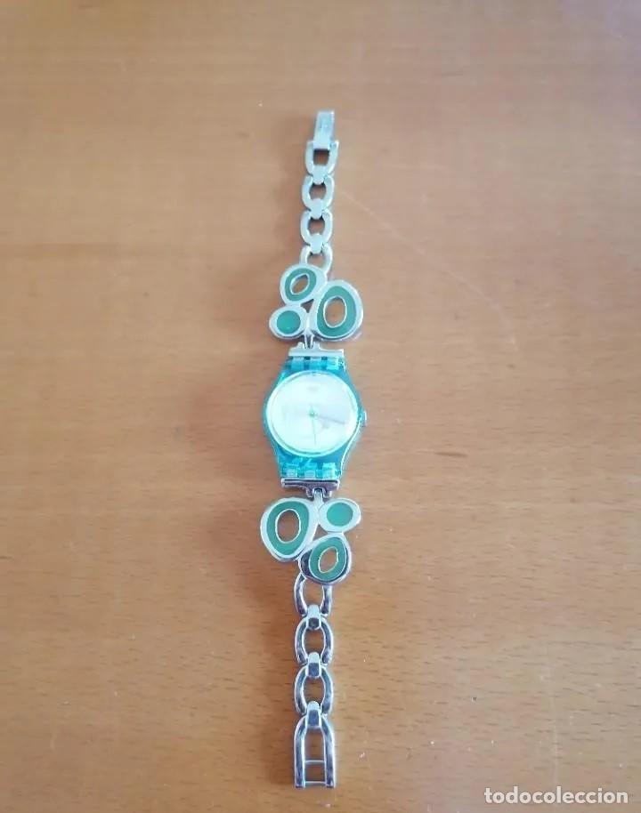 Relojes - Swatch: SOFISTICADO Y JUVENIL RELOJ MARCA SWATCH AG 2008 DISEÑO EXCLUSIVO - Foto 3 - 218289823
