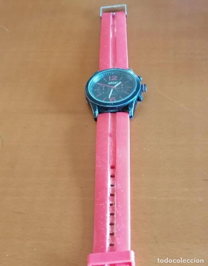 Relojes - Swatch: JUVENIL RELOJ MARCA *OHLA!* DE LA CASA CITIZEN, CON ESFERA NEGRA Y CORREA DE GOMA ROSA. - Foto 2 - 218290107