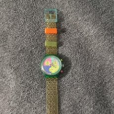 Relojes - Swatch: SWATCH CRONO CHRONO FLASH ARROW SCL 100 1990. Lote 222439252