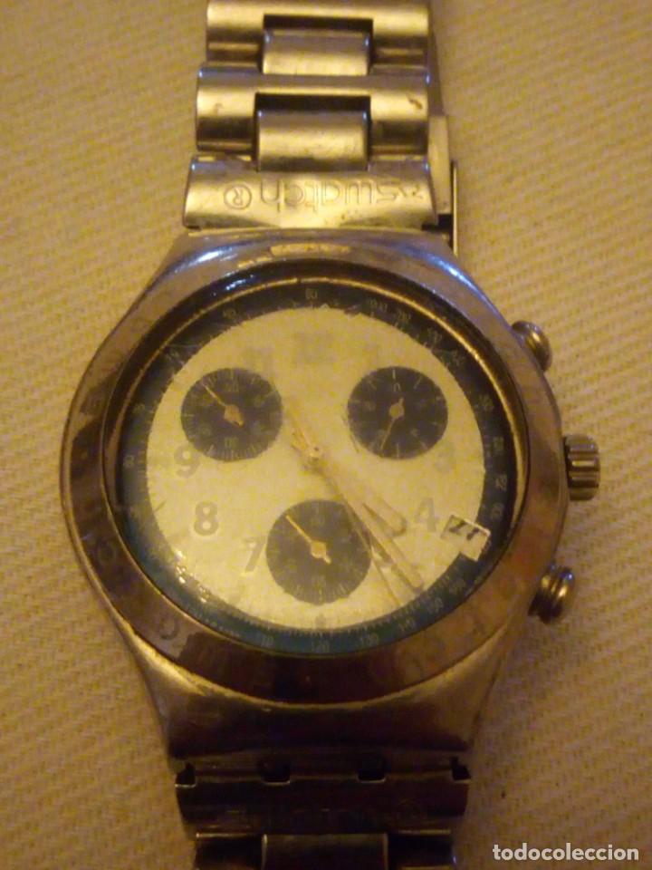 Relojes - Swatch: Reloj cronógrafo de caballero swatch irony swiss made - Foto 2 - 223734932