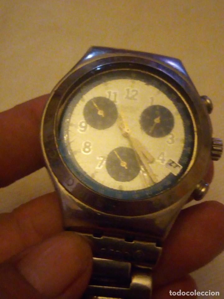 Relojes - Swatch: Reloj cronógrafo de caballero swatch irony swiss made - Foto 3 - 223734932
