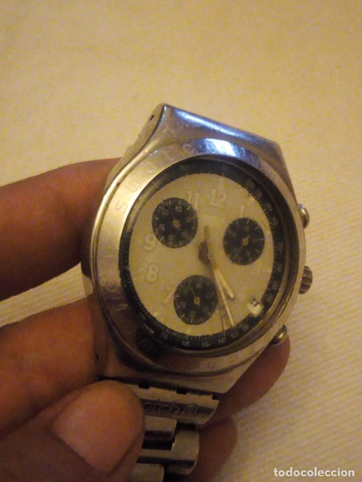 Relojes - Swatch: Reloj cronógrafo de caballero swatch irony swiss made - Foto 4 - 223734932