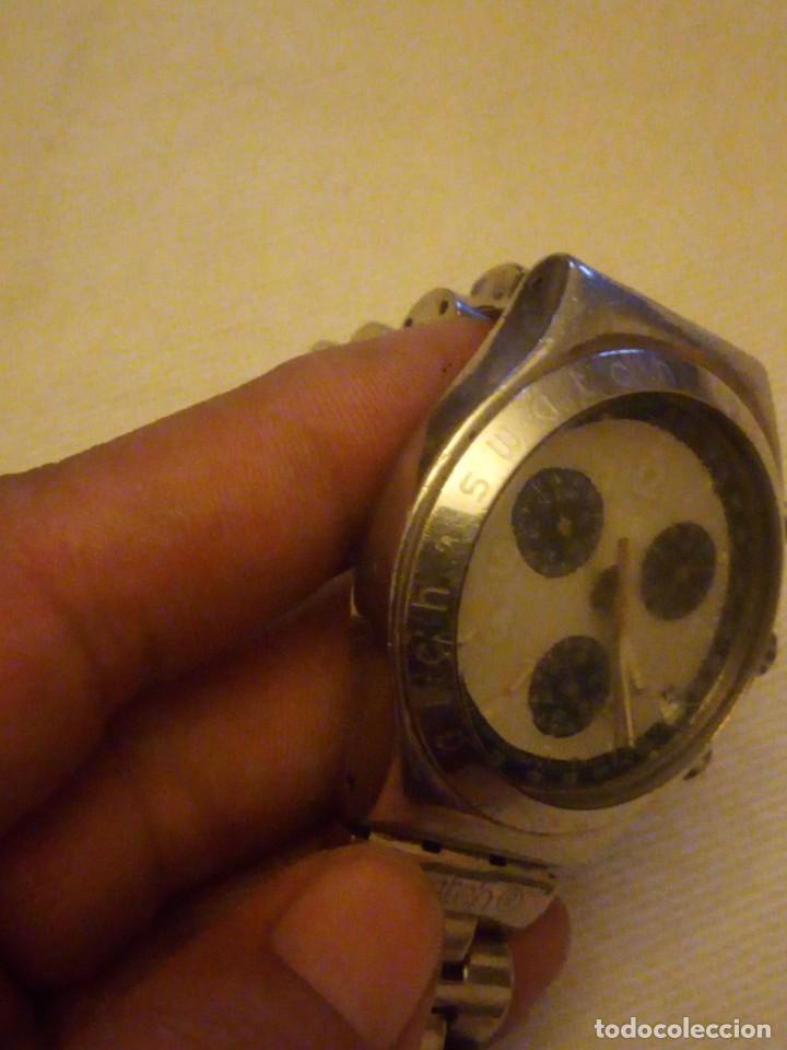Relojes - Swatch: Reloj cronógrafo de caballero swatch irony swiss made - Foto 5 - 223734932