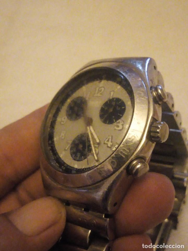 Relojes - Swatch: Reloj cronógrafo de caballero swatch irony swiss made - Foto 6 - 223734932