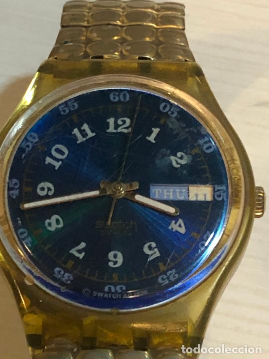 ANTIGUO RELOJ SWATCH - SWIISS MADE BONITA ESFERA EN FUNCIONAMIENTO CON BATERÍA NUEVA. VER FOTOS (Relojes - Relojes Actuales - Swatch)