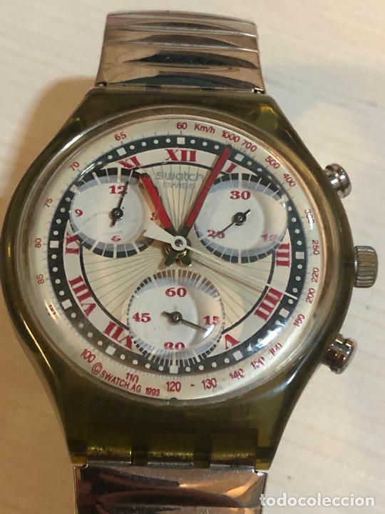 Relojes - Swatch: Antiguo reloj Swatch - Swiiss Made bonita esfera CRONOGRAFO funcionamiento batería nueva. Ver fotos - Foto 3 - 224711821