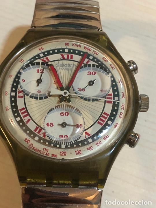 ANTIGUO RELOJ SWATCH - SWIISS MADE BONITA ESFERA CRONOGRAFO FUNCIONAMIENTO BATERÍA NUEVA. VER FOTOS (Relojes - Relojes Actuales - Swatch)