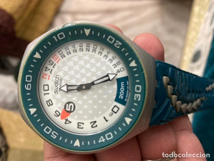 Relojes - Swatch: Reloj años 90 Swatch Rip Tide (SUGM102) fun scoba con resistencia al agua (200 metros / 650 pies) - Foto 3 - 229127726