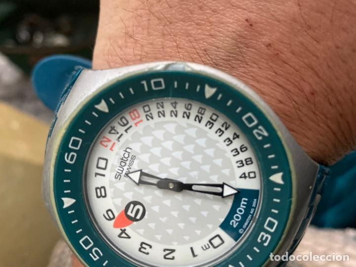 Relojes - Swatch: Reloj años 90 Swatch Rip Tide (SUGM102) fun scoba con resistencia al agua (200 metros / 650 pies) - Foto 14 - 229127726