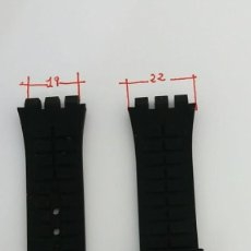 Relojes - Swatch: CORREA SILICONA PARA SWATCH 19-22 MM.. Lote 231816255