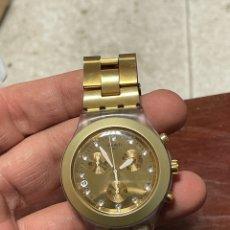 Relojes - Swatch: RELOJ SWATCH IRONY DIAPHANA DORADO. Lote 234343480
