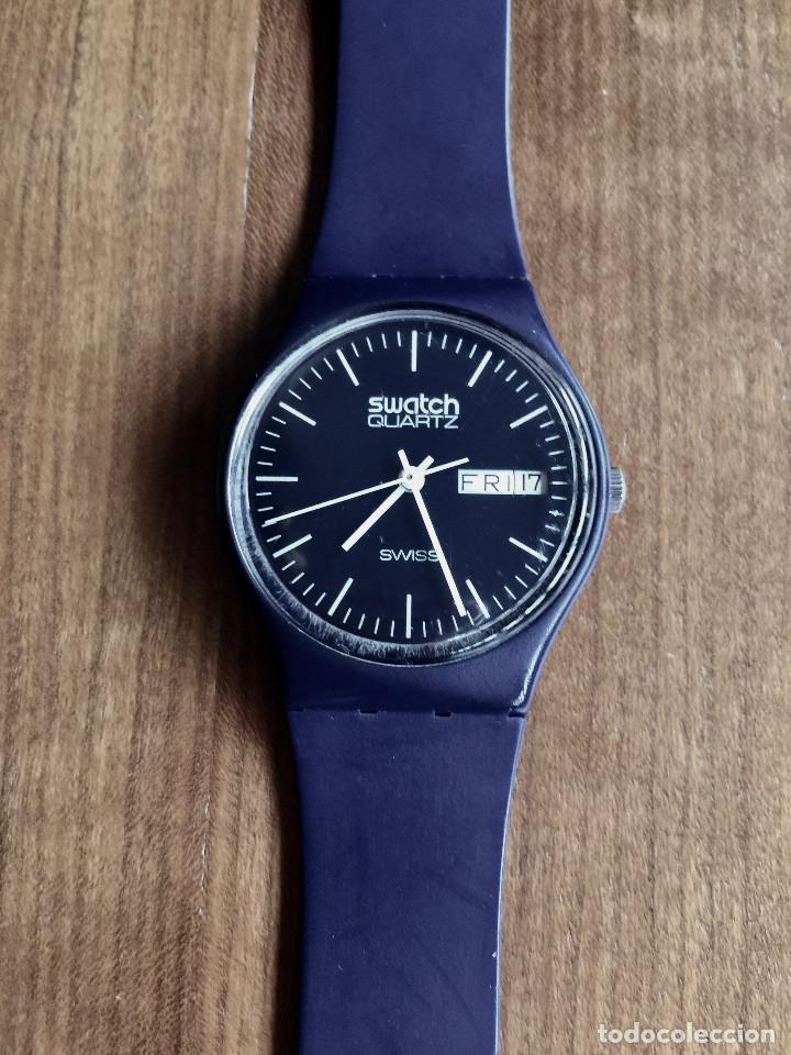 SWATCH GN700 RELOJ DE PULSERA VINTAGE DE 1983 – SUIZO ORIGINAL, DE LA PRIMERA SERIE – 7 AGUJEROS (Relojes - Relojes Actuales - Swatch)