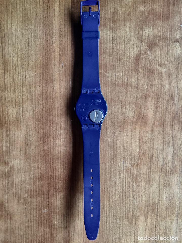 Relojes - Swatch: SWATCH GN700 RELOJ DE PULSERA VINTAGE DE 1983 – SUIZO ORIGINAL, DE LA PRIMERA SERIE – 7 AGUJEROS - Foto 4 - 235999340