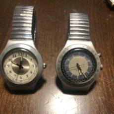 Relojes - Swatch: LOTE 2 RELOJES SWATCH BONITAS ESFERAS BANDAS METÁLICAS ELÁSTICAS. VER FOTOS. Lote 238151225