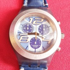 Orologi - Swatch: RELOJ SWATCH IRONY DIAPHANE CHRONOMETRO CUARZO .MIDE 43 MM DIAMETRO. Lote 241206910