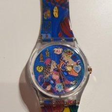 Relojes - Swatch: RELOJ SWATCH ORIGINAL ESPECIAL 1996: ROMEO Y JULIETA, CAJA ORIGINAL. Lote 243257440