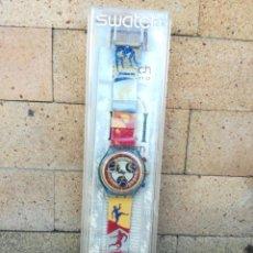 Relojes - Swatch: RELOJ SWATCH CHRONO JUEGOS OLIMPICOS DE ATLANTA 1996. NUEVO EN ESTUCHE CON LOS DOCUMENTOS ORIGINALES. Lote 244436045