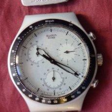 Relojes - Swatch: RELOJ CHRONO SWATCH IRONY AG 1998 ALUMINIO FUNCIONANDO. Lote 252907825