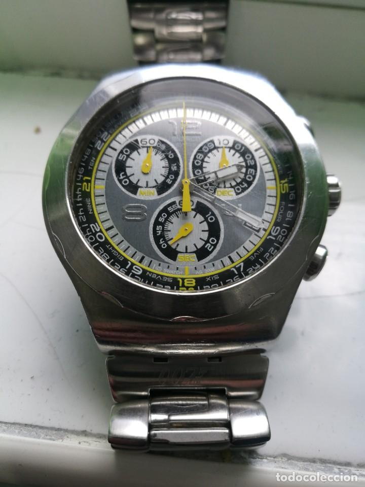 SWATCH 007 CRONO. TODO ACERO. 47 MM. (Relojes - Relojes Actuales - Swatch)