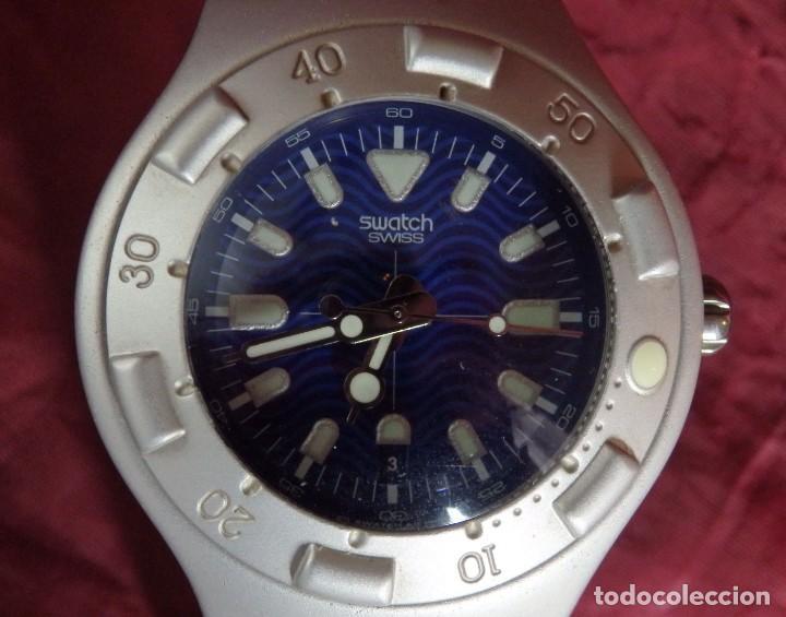 Relojes - Swatch: RELOJ SWATCH IRONY SCUBA 200 METROS BUCEO AG1998 DE ALUMINIO FUNCIONANDO - Foto 2 - 255920380