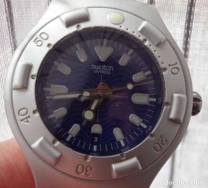 Relojes - Swatch: RELOJ SWATCH IRONY SCUBA 200 METROS BUCEO AG1998 DE ALUMINIO FUNCIONANDO - Foto 3 - 255920380