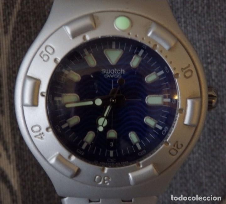 Relojes - Swatch: RELOJ SWATCH IRONY SCUBA 200 METROS BUCEO AG1998 DE ALUMINIO FUNCIONANDO - Foto 4 - 255920380