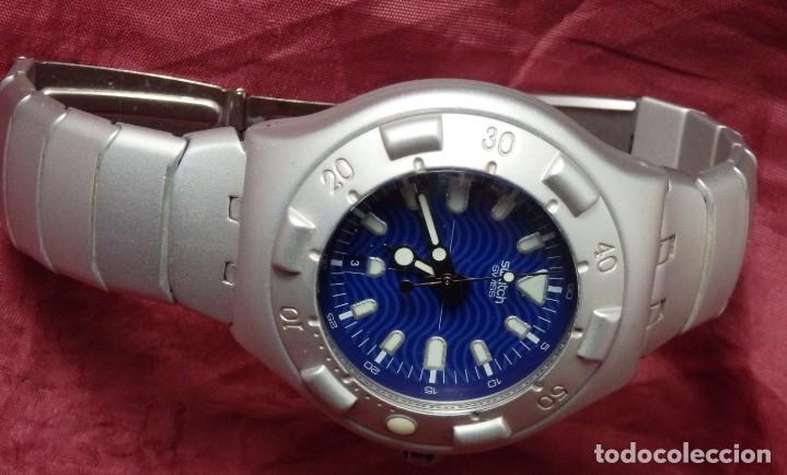 Relojes - Swatch: RELOJ SWATCH IRONY SCUBA 200 METROS BUCEO AG1998 DE ALUMINIO FUNCIONANDO - Foto 6 - 255920380