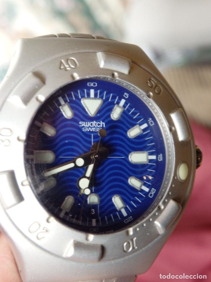RELOJ SWATCH IRONY SCUBA 200 METROS BUCEO AG1998 DE ALUMINIO FUNCIONANDO (Relojes - Relojes Actuales - Swatch)