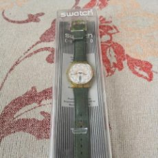 Relojes - Swatch: SWATCH TOP CLASS GK 707 DAY DATE 1993 LEATHER GREEN STRAP RELOJ CORREA VERDE. Lote 270364773