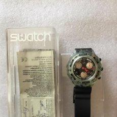 Relojes - Swatch: RELOJ DE PULSERA SWATCH, AÑO 1997, SIN USAR, EN CAJA ORIGINAL Y DOCUMENTACIÓN. ¡FUNCIONA!. Lote 272005013
