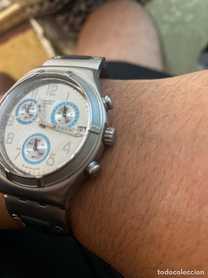 """Relojes - Swatch: Swatch - 2007 Reloj Swatch IRONY CHRONO Serie """"Escala de plateados - Foto 3 - 273120448"""