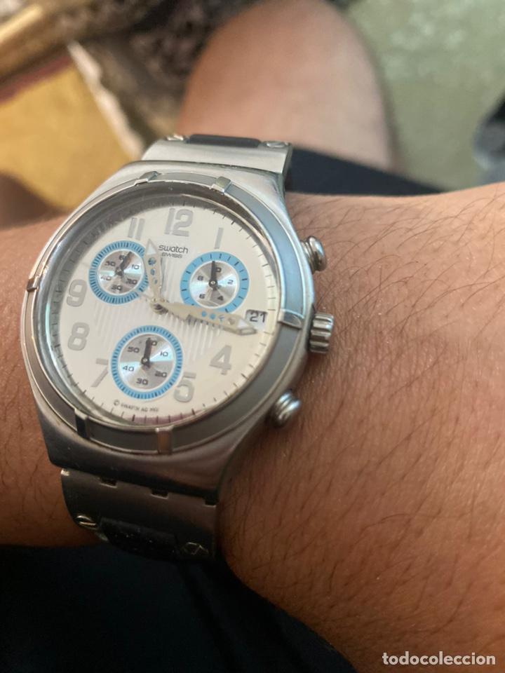"""Relojes - Swatch: Swatch - 2007 Reloj Swatch IRONY CHRONO Serie """"Escala de plateados - Foto 4 - 273120448"""
