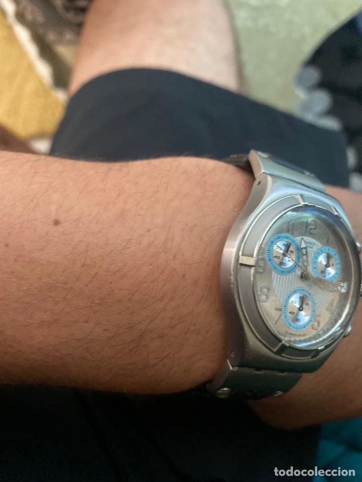 """Relojes - Swatch: Swatch - 2007 Reloj Swatch IRONY CHRONO Serie """"Escala de plateados - Foto 5 - 273120448"""
